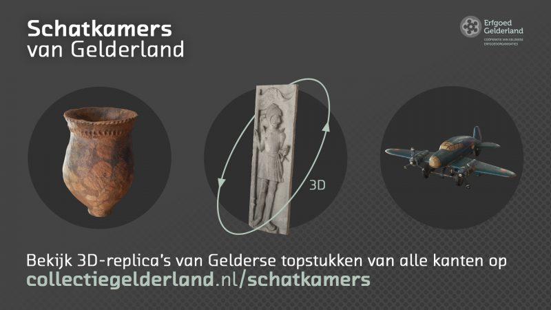 3D-objecten van Museum Kasteel Wijchen online in Schatkamers van Gelderland