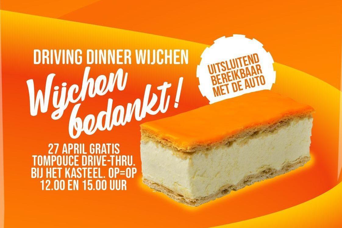Horeca Wijchen deelt op Koningsdag 2000 gratis tompouces uit!