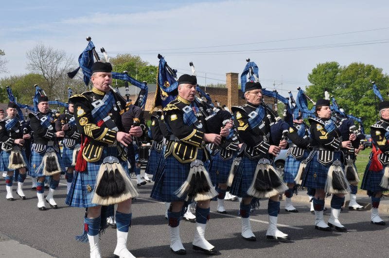 The Royal Air Force Waddington Pipes and Drums