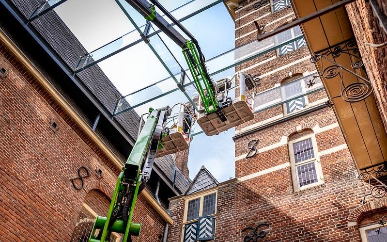 Unieke glazen kap op 'nieuwe' binnenplaats van Kasteel Wijchen