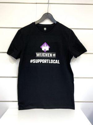 Heren t-shirt zwart / paars support Local - Wijchen=