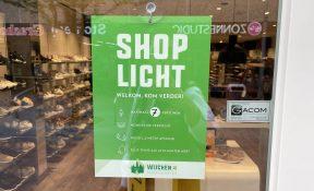 Shoplicht in het centrum van Wijchen - Wijchen=