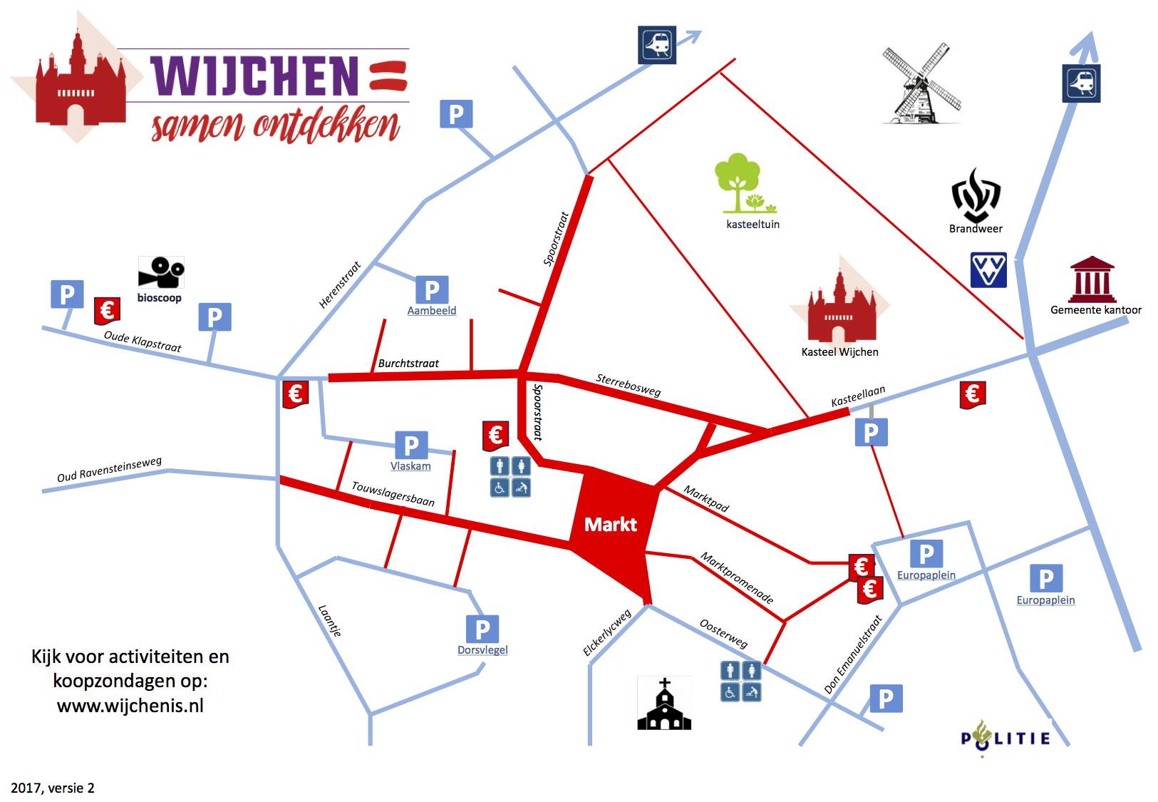 Plattegrond Centrum Wijchen - Wijchen=